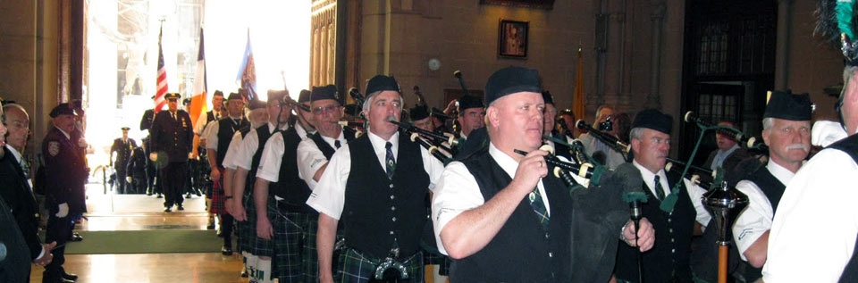 The bagpipers from Old Bridge, NJ